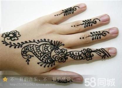 印度海娜手绘纹身
