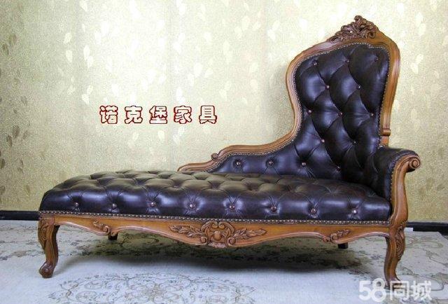【图】欧式电话椅 美式实木沙发椅贵妃椅