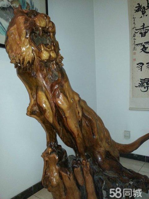 【图】艺术品摆件根雕大老虎
