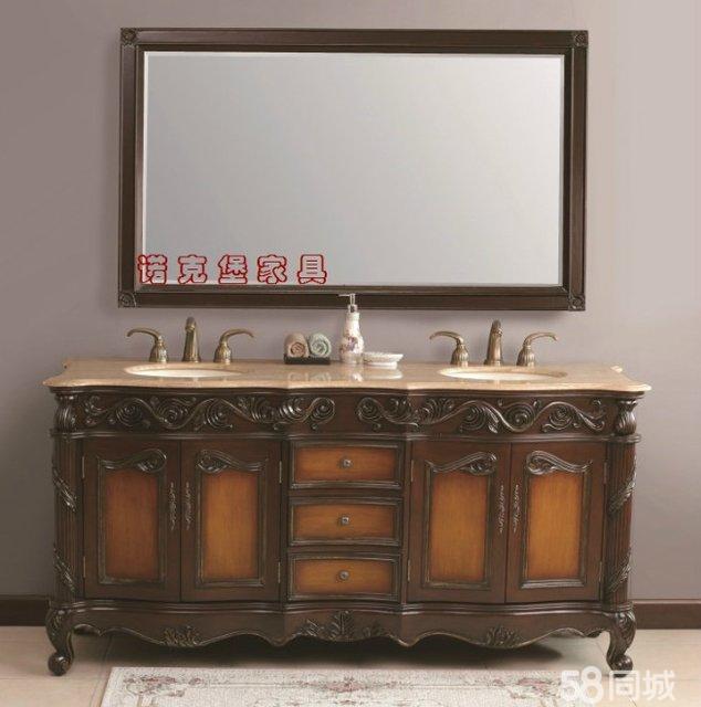 淘宝网址:http://nocoble.taobao.com/?qq-pf-to=pcqq.c2c 卫浴镜柜组合,梳妆台、穿衣镜,欧式实木的,不生虫,不弯曲,结实耐用,造形华丽,雕花精美。
