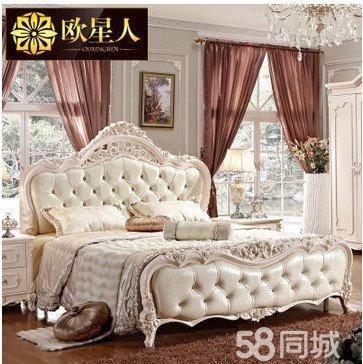 【图】欧式床双人床实木田园奢华家具组合包安装