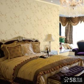 卧室墙纸设计图片