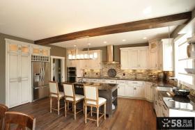 美式风格开放式厨房装修效果图