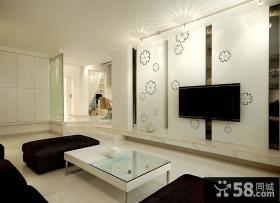 现代日式家居客厅电视背景墙图欣赏