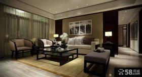 现代中式风格装修客厅效果图