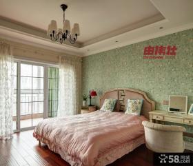 美式风格主卧室带阳台装修效果图欣赏