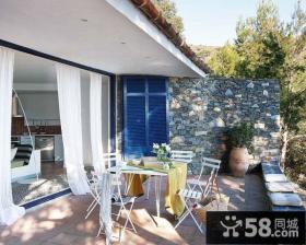 复式楼家庭客厅阳台装修窗帘效果图大全2012图片