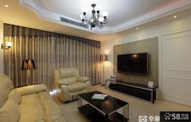 客厅壁纸电视背景墙装修效果图片