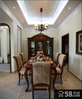 美式古典风格家用餐厅设计