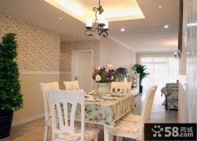 韩式田园风格两室两厅家庭餐厅装修效果图