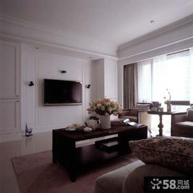 简美式小客厅电视背景墙效果图