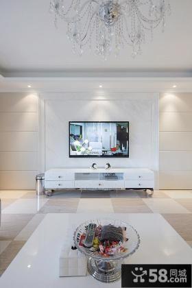 现代简约风格电视背景墙设计图大全2015