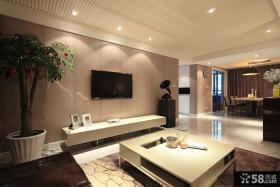 现代风客厅电视背景墙装修设计图