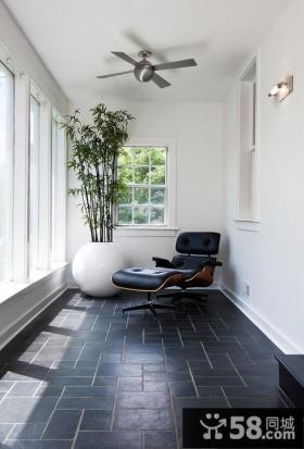 现代简约风格阳台贴瓷砖装修效果图