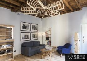美式混搭风格二居室设计
