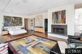 挑高复式卧室装修 现代卧室装修效果图