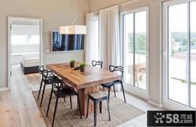 宜家风格小户型室内餐厅设计图片