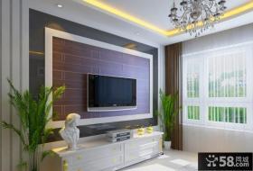 现代简约装饰风格电视背景墙