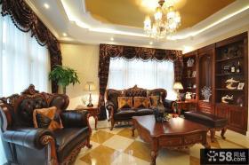 美式样板房设计客厅效果图