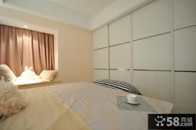 简欧风格温馨卧室飘窗设计