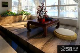 中式古典阳台窗户装修效果图