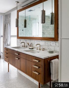 简约美式卫生间洗手台装修效果图