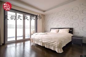 现代简约风格卧室壁纸效果图