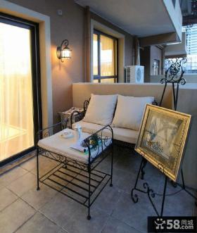 美式风格阳台装饰图片