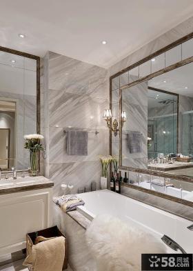 时尚现代别墅室内卫生间设计效果图