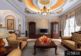 欧式别墅客厅吊顶装修设计