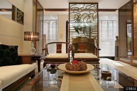 中式别墅精装客厅图片欣赏