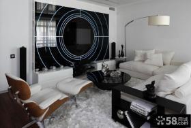 现代客厅创意电视背景墙装修效果图大全2013图片