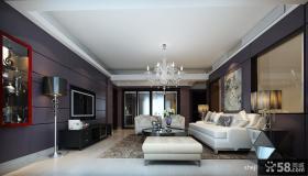 现代客厅瓷砖背景墙装修效果图