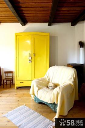 黄色柜子设计图