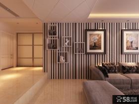 现代时尚二居室客厅玄关装修效果图大全2014图片