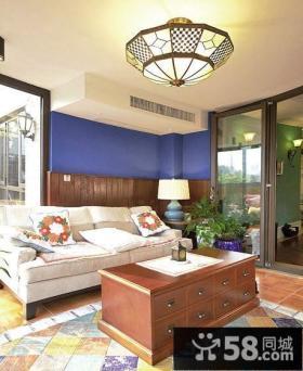 美式混搭三居客厅沙发茶几图片