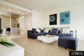 2013简约一居室客厅沙发照片墙效果图
