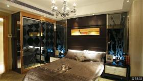 主卧室床头硬包背景墙装修效果图大全