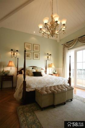美式复式房屋卧室装修图片欣赏