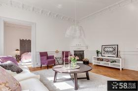 60平小户型家装效果图客厅欣赏