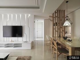 简约风格复式电视背景墙设计效果图
