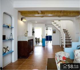 田园风格复式楼梯装饰效果图