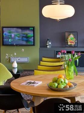 后现代风客厅电视背景墙装修效果图2013