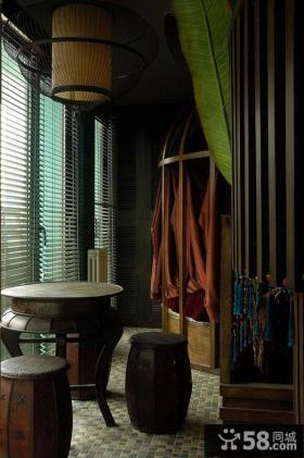 中式风格混搭设计餐厅装修效果图