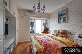 简欧装饰设计卧室飘窗图大全