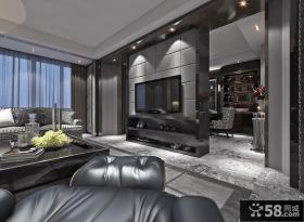后现代风格室内客厅电视背景墙设计