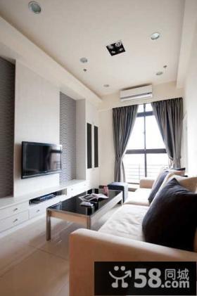 现代家庭设计客厅电视背景墙图
