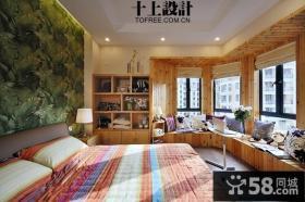 转角卧室飘窗装修效果图大全2012图片