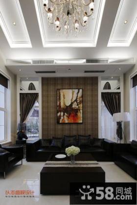 复式楼客厅吊顶效果图片大全