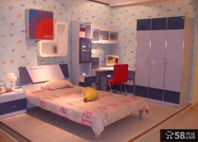 现代小卧室整体衣柜装修效果图